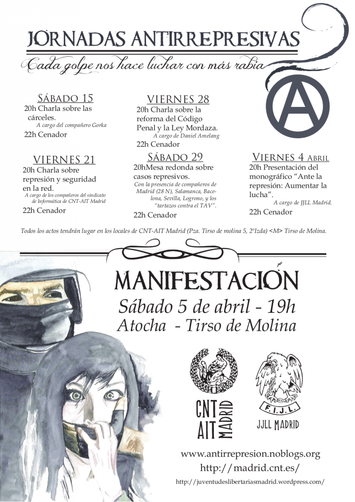 Cartel jornadas antirrepresivas definitivo color2